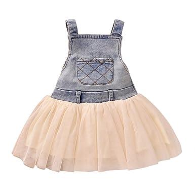 4a7e5e0eb5156 De feuilles Chic-Chic Robe Jeans Princesse Fille Pétale Tulle Mariage Fleur  Haut Courte Manche