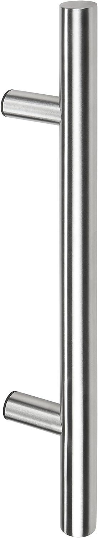 Gedotec Puerta Delantera Tiradores Redondos Rectos de Acero Inoxidable - HE10008 | Longitud 600 mm | Distancia Entre Agujeros 400 mm | Mango de Barra Ø 30 mm | diseño Material sujeción - 1 Pieza