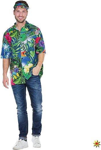 Mottoland Disfraz de Hombre Camisa Hawaiana Fiesta Tropical ...
