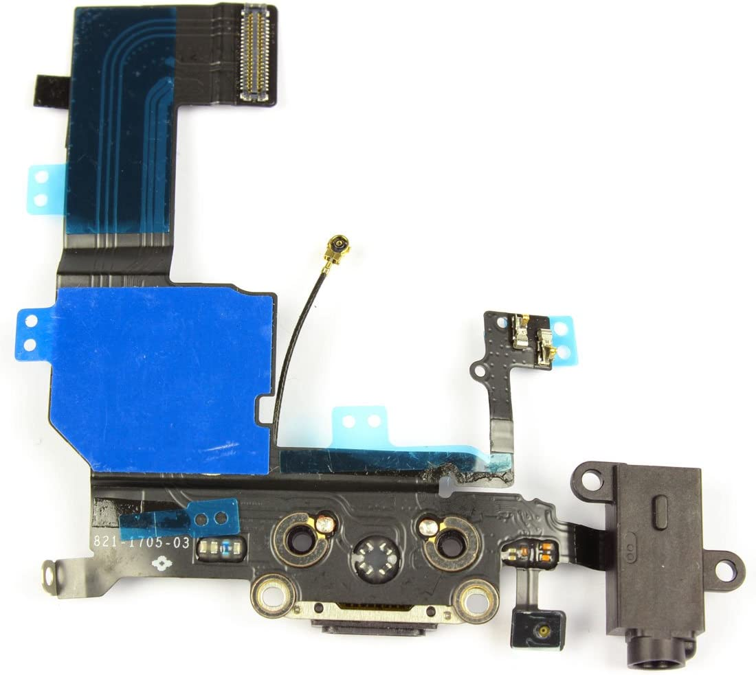 SoSav – Conector de Carga + micrófono + Toma Jack + Antena gsm para iPhone 5