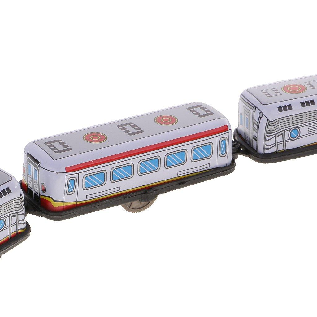 MagiDeal Retro Wind-up Tren Expreso Modelo de Juguete Esta/ño Regalo de Colecci/ón