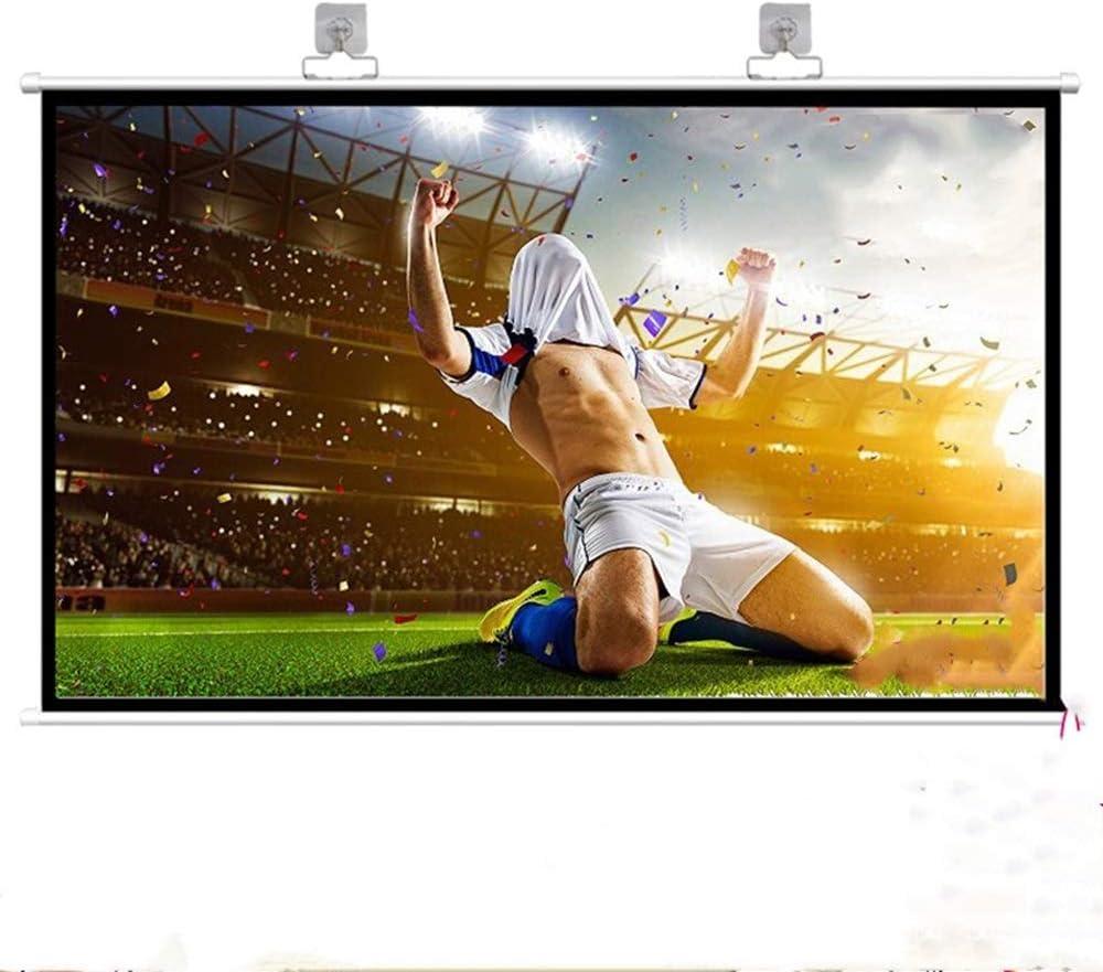 スクリーン プロジェクター ホーム・シアターシネマ屋内屋外のためのフックアップHDプロジェクタースクリーンを備えたポータブルプロジェクタースクリーン 投影用 (Color : White-3, Size : 16:9)