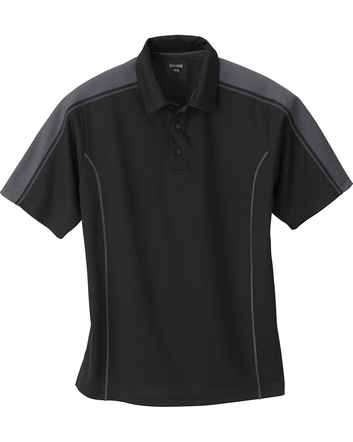 Extreme Men's Eperformance Piqu Color-Block Polo -85089- -BLACK 703 -S