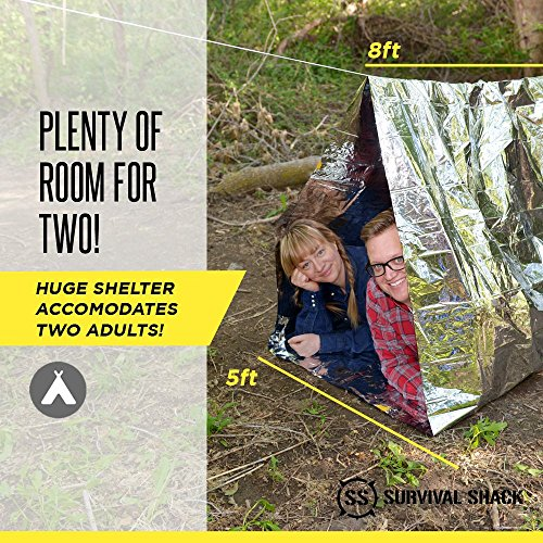 Survival Shack Emergency Survival Shelter Tent 2 Person