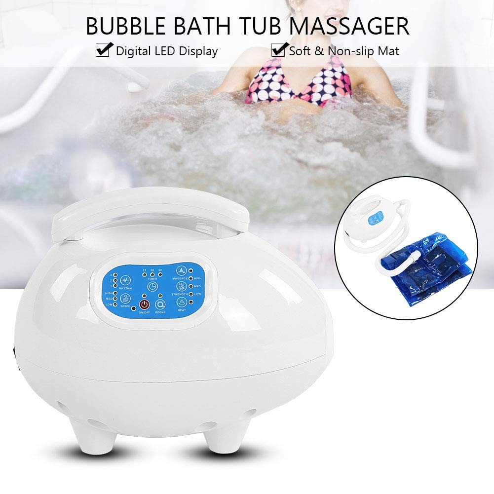 Electric Bathtub Bubble Massage Mat, Waterproof Tub Massaging Spa Portable Non-Slip Suction Cup Bottom with Remote Control Adjustable Bubble Settings(US Plug) by Semme (Image #5)