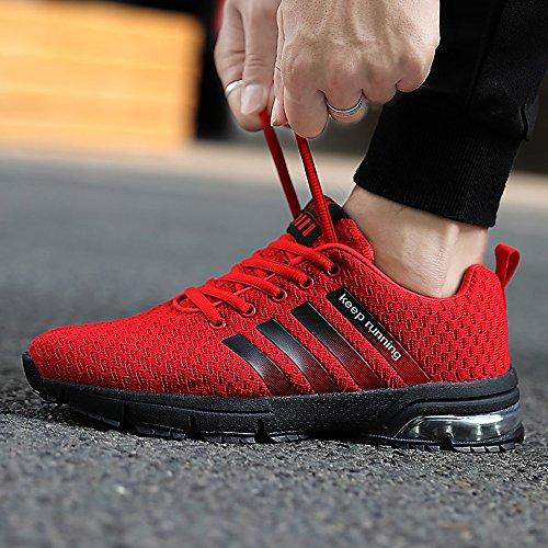 Marron modèle 47 Air Sportif Mince Rouge Rouge Chaussures 3 Entraînement Homme Lace Sneakers 36 choisissez Athlétique Fitness Bleu Femme Up Mode Basket Blanc 1 Noir Cm Taille tU8ZB