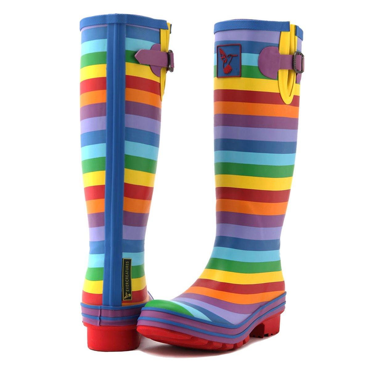 Evercreatures Women's Rain Boots UK Brand Original Tall Rain Boot B(M) Gumboots Wellies B008DS6IZM 10 B(M) Boot US / UK8 / EU41|Multicolour 14f5a7