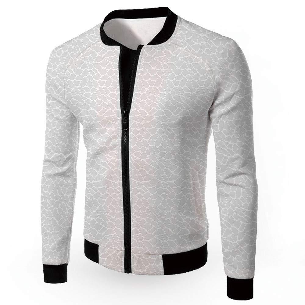 Multi16 Medium iPrint Stand Neck Jacket,Abstract,Fashion Lightweight Hoodie Zipup Letter Windbreaker
