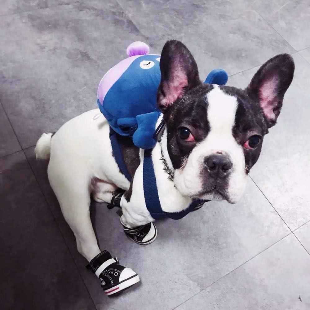 Puppy Dog Cute Back Pack Saddle Bag with Lead Leash for Small Dog Corgi Bulldog Outdoor Walking Photo Shoot CheeseandU Pet Dog Cartoon Backpack Harness with Leash
