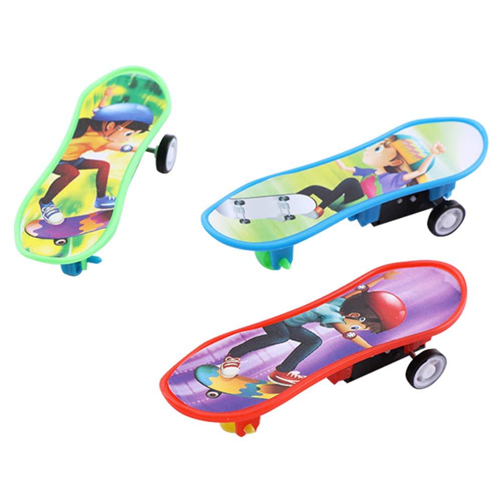 Shangwelluk Professional Finger Skateboard Educational Kids Gift Cartoon Mini Plastic Board Toy Car Unique matte Random Color 1 Pcs Perfect Party Bag Fillers Toys for Kids