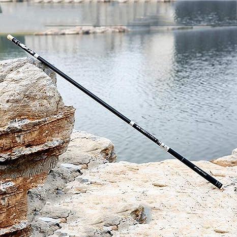 Zyy Telescópico Spinning Caña Súper Duro Carbono Carpa Pole Agua ...