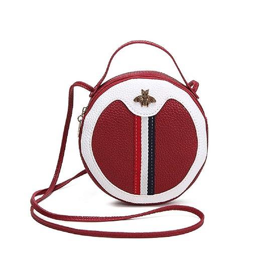 XWH Bolso redondo pequeño para mujer, bolso de bandolera en ...