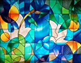 "Dove Stained Glass Window Film - 36"" Wide X 28"" Long: Sold By the Pattern."
