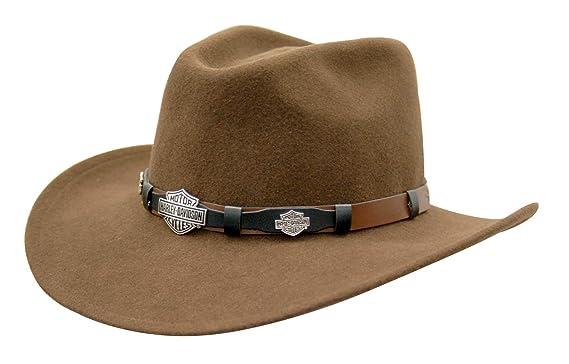 Harley-Davidson Wool Hat Hd-18-Brown Felt with B S at Amazon Men s ... 189c507e2f20