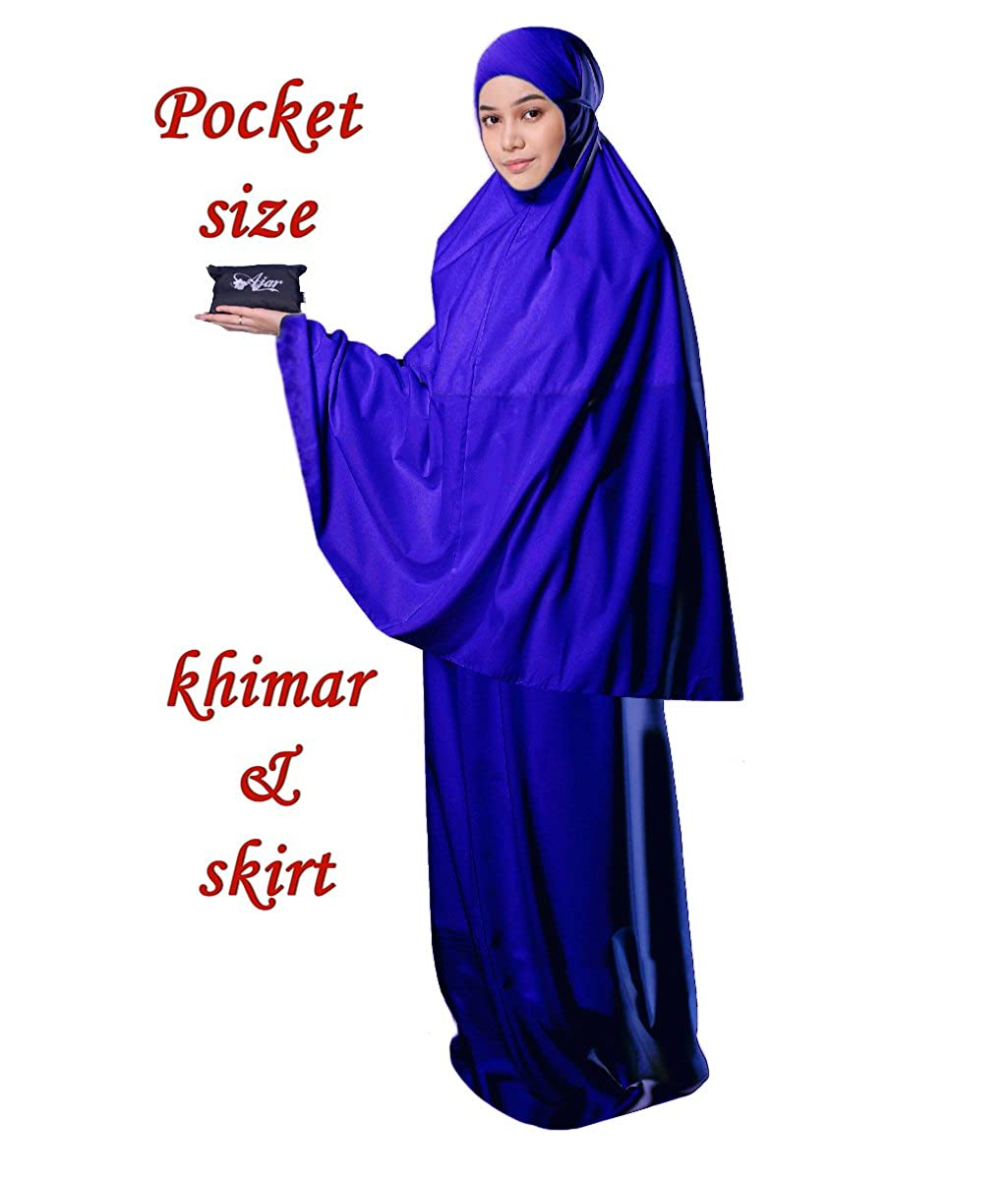 Muslim Women's Prayer Dress Pocket-Size Hijab Scarf Skirt Islamic Abaya by AJAR