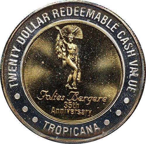 1995 (ND) Tropicana Folies Bergere 35th Anniversary, 20 Silver Casino Strike