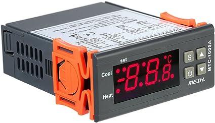 KKmoon AC220V Termostato Termico di Riscaldamento e Raffreddamento Termometro del Termometro Digitale LED con Rel/è NTC Sensor 2