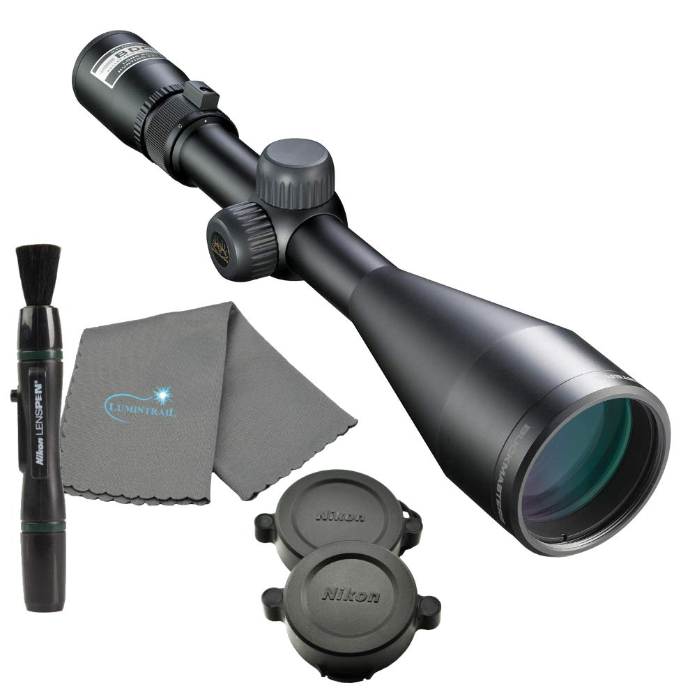 Nikon Buckmaster 3-9x50 Matte BDC Rifle Scope Bundle with a Lens Pen and Lumintrail Microfiber Cleaning Cloth by Nikon