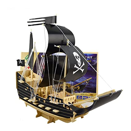 Buy Smilelove Pirate Ship Wooden Models 3d Sailing Ships Models