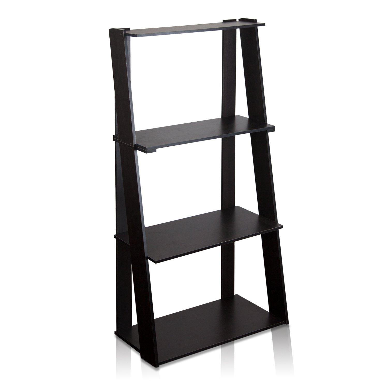 FURINNO Hidup Tropika Tall Ladder Shelf, Espresso by Furinno