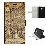 Zenfone 2 laser ZE550KL case, SoloShow(R) ASUS Zenfone 2 Laser ZE550KL 5.5 inch case High Quality PU Leather Wallet Flip case, Vintage World Map pattern (Map)