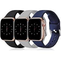 Opakowanie Wepro 3 paski kompatybilne z paskiem Apple Watch 38 mm, 42 mm, 40 mm, 44 mm. Miękki silikonowy pasek…