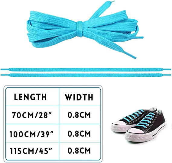 """15 Pairs 39/"""" Flat Coloured Athletic Shoe Laces For Sneakers Skate Shoes Boots"""