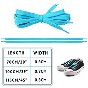 Isusser 15 Pairs 45 Flat Coloured Athletic Shoe Laces Sneakers Skate Shoes Boots Sport Shoes