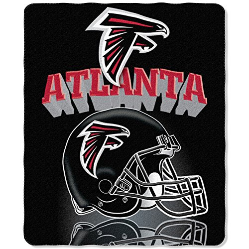 NFL Atlanta Falcons Gridiron Fleece Throw, 50-inches x 60-in