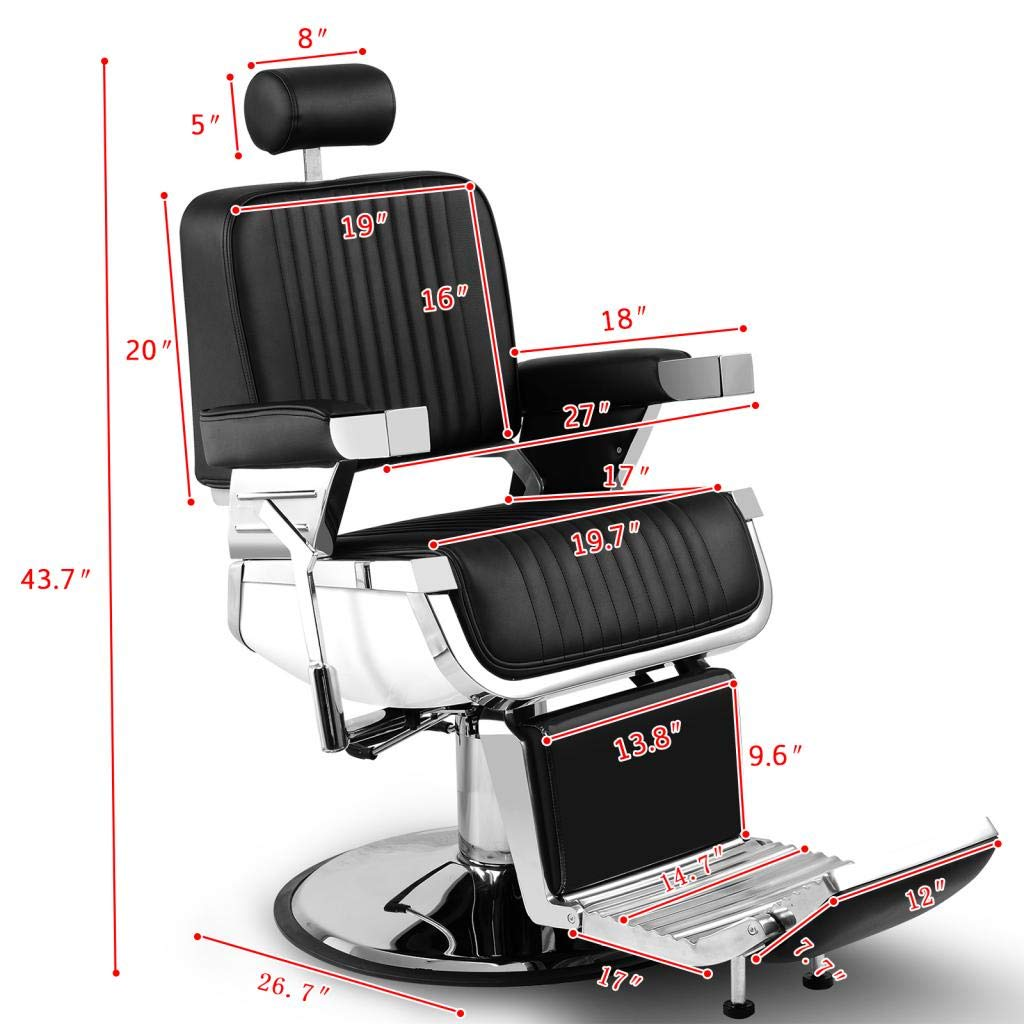 Artist Hand Heavy Duty Hydraulic Recline Barber Chair