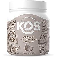 KOS Organic Coconut Milk Powder - Sugar Free Coffee Creamer Powder - Vegan, Keto, Paleo Friendly - 12.6oz
