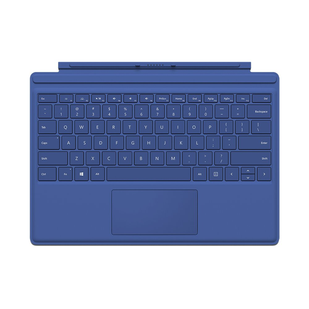 amazon com microsoft type cover for surface pro blue computers