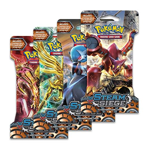 Pokemon Trading Card Game, 4 Pack Steam Siege Booster Pack