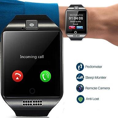 Smartwatch desbloqueado reloj teléfono celular todos en 1 Bluetooth reloj inteligente con cámara manos libres Call