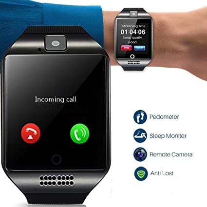 Smart Watch Bluetooth Smartwatch Touch Screen Wrist Watch Sports Fitness Tracker with Camera SIM SD Card Slot Pedometer Compatible with iPhone iOS ...