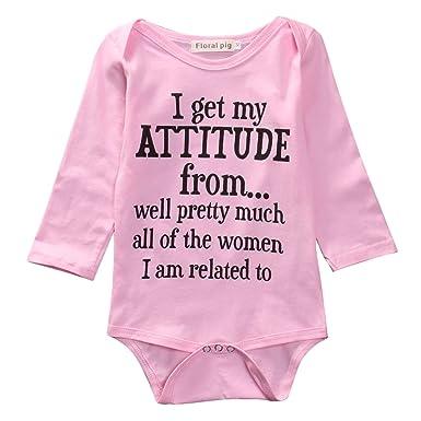 bd10ee8dc6e5 Amazon.com  Newborn Baby Girls Cotton Romper Bodysuit