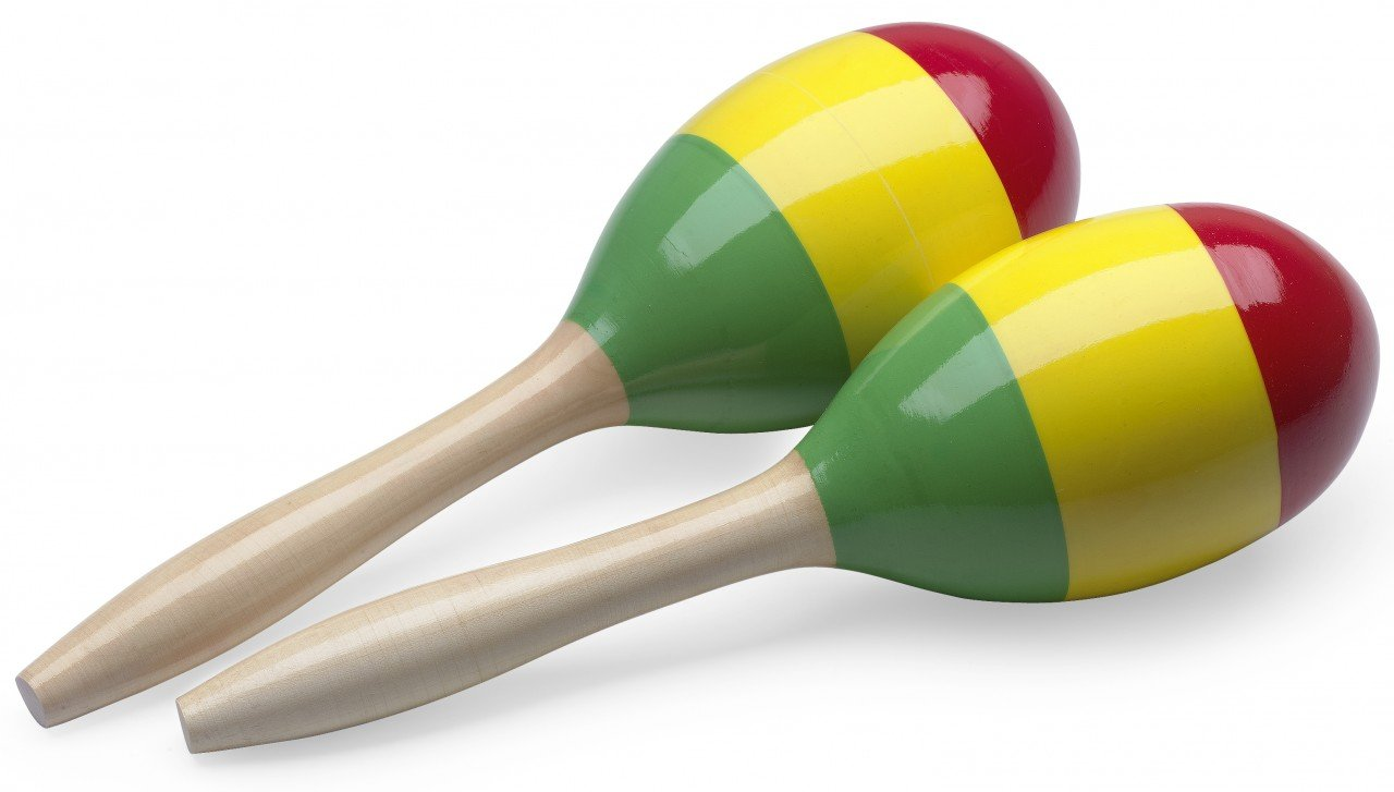 Magenta EGG-MA S//MG Stagg EGG-MA Plastic Egg Maracas Pair with Long Handle
