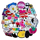 Stickers for Water Bottles Big 45 Pcs Pack, Cute Waterproof Aesthetic Trendy Stickers for Teens Girls Perfect for Water Bottle Laptop Guitar Phone Skateboard Graffiti Decal (Style - 45)