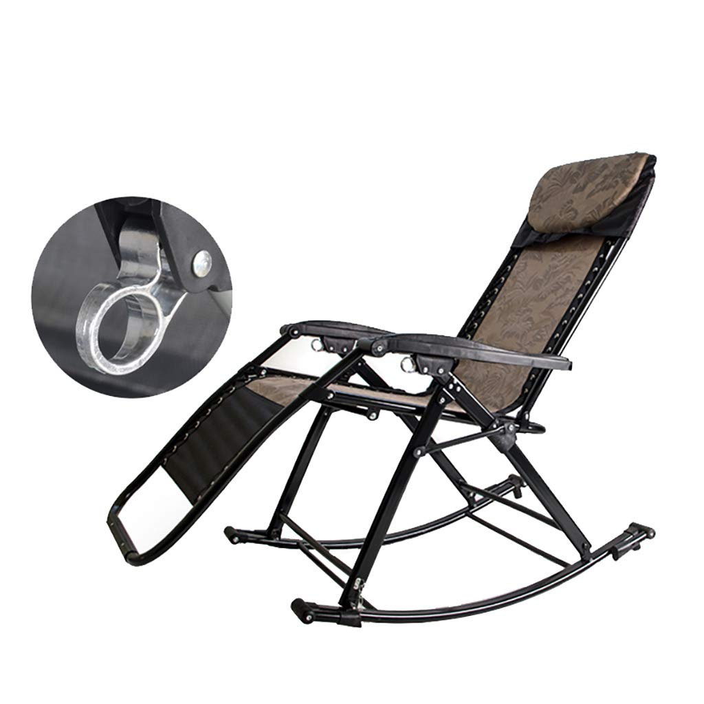 Folding Relaxing Lounge Chair Recliner,3 in 1 Multi-Function Rocking Chair,90° to 155° Adjustable,One Button Lockable for Living Room Bedroom by WY rocking chair