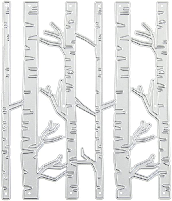 ZbFwmx Branches Forest Tree Metal Cutting Dies Stencil DIY Scrapbooking Embossing Tool DIY Paper Cards Album Decoration
