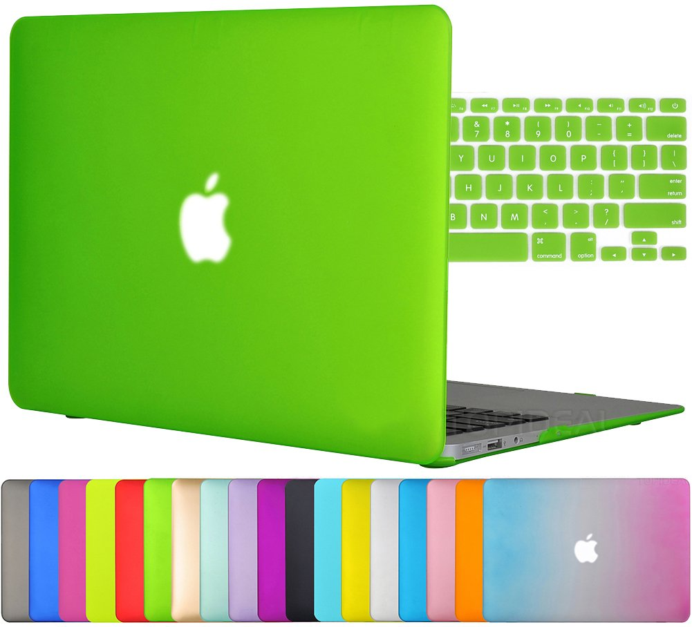 Easygoby 2in1 Case For MacBook Air 13-inch - Matte Silky-Smooth Soft-Touch Snap-on Hard Shell Case Cover Skin For Apple MacBook Air 13.3 + Keyboard Cover - Deep Green