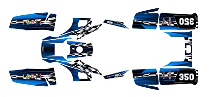 Yamaha Warrior 350 Graphics Decal Kit By Allmotorgraphics No2500 (Blue)
