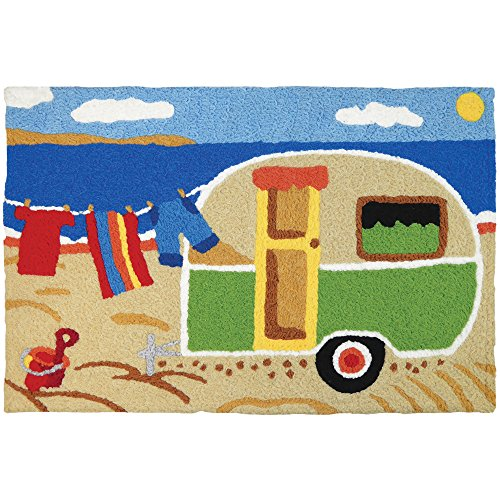 Jellybean Camping At The Beach Coastal Indoor/Outdoor Machin