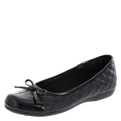 safeTstep Slip Resistant Women's Sasha Quilt Bow Flat | Flats