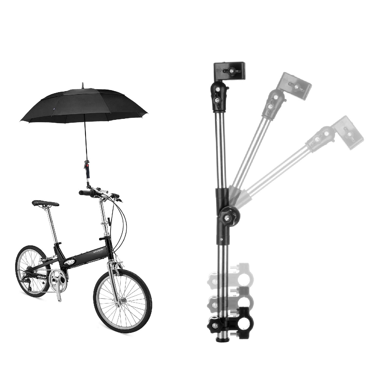 Bike Bicycle Wheelchair Stroller Chair Umbrella Connector Holder Mount Stand Kit