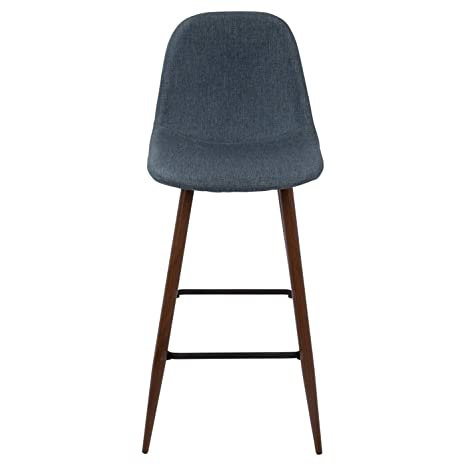 Miraculous Amazon Com 30 Barstool Porter Mid Century Modern Indigo Cjindustries Chair Design For Home Cjindustriesco