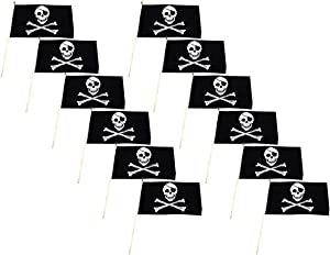 Pirate - Jolly Roger - Flag 12x18 inch Stick Flag (12 PK)