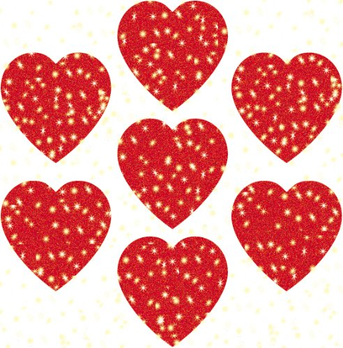 Carson Dellosa Hearts, Red Dazzle Stickers (2946)