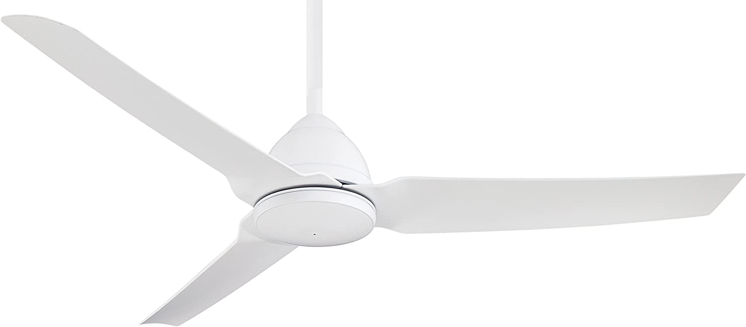 Minka-Aire F753-WHF, Java Flat White 54 Outdoor Ceiling Fan with Remote Control