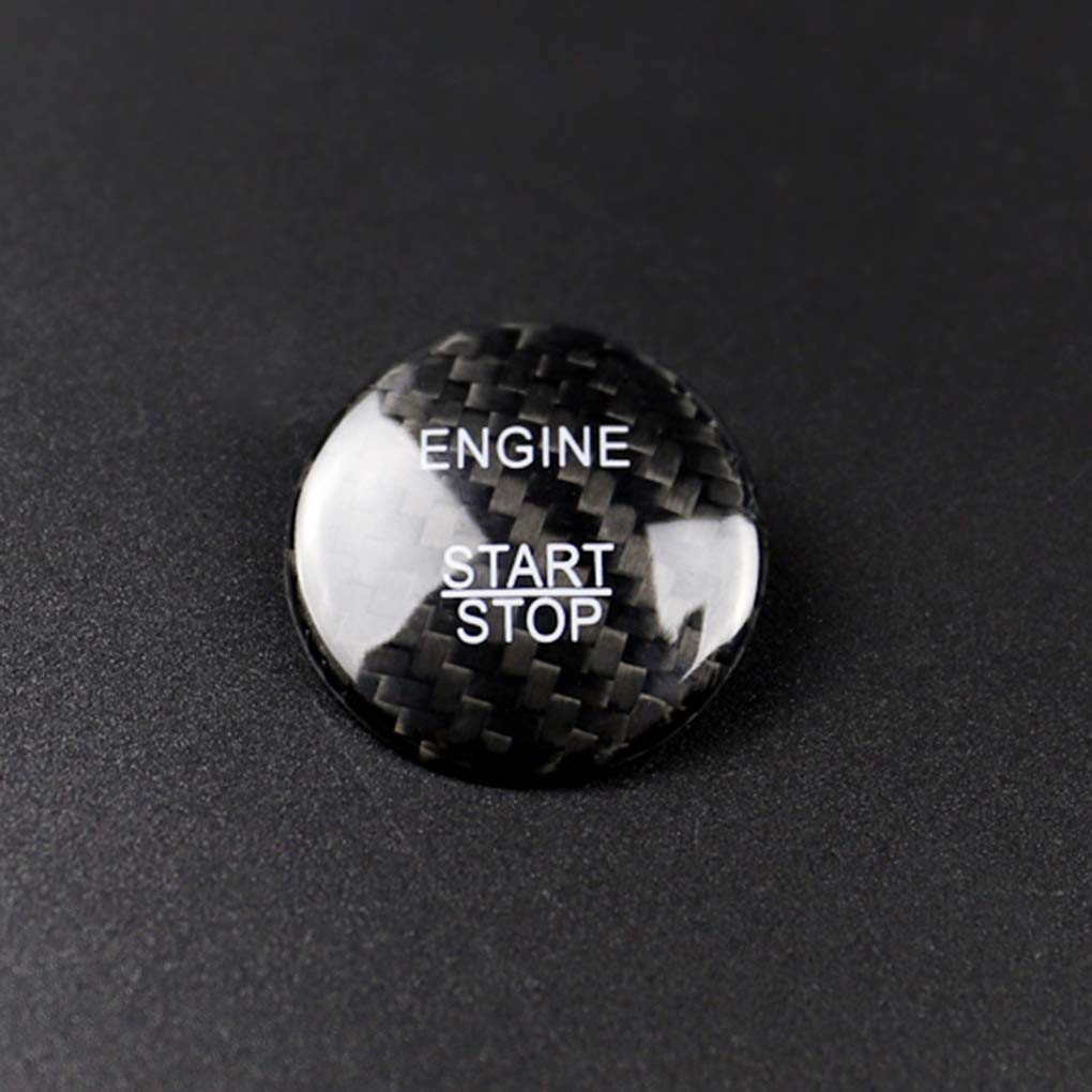 Topker Auto-Motor-Start-Stop-Schalter-Carbon-Faser-Knopf-Abdeckung Ersatz f/ür Mercedes Benz W205 GLC X253 Schwarz
